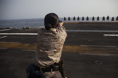 USS Essex (LHD 2)_150711-M-SV584-053 (U.S. Naval Forces Central Command/U.S. Fifth Fleet) Tags: california sea usmc training marine military air navy middleeast sailors maritime land guns shooting marines sailor marinecorps weapons deployment amphibious arabiangulf centcom unitedstatesmarinecorps camppendleton arabiansea isil 15thmeu replenishmentatsea amphibiousassaultship gulfofaden ussessexlhd2 navcent marineexpeditionaryunit essexamphibiousreadygroup amphibiousassaultshipussessexlhd2 maritimeoperations magtf 15thmarineexpeditionaryunit servicemembers uscentcom essexarg marineairgroundtaskforce combatreadiness cplannaalbrecht westernpacificdeployment151