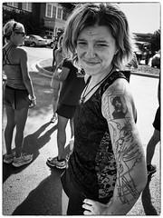 unfinished_tattoo_PS6 (peterjcb) Tags: street portrait blackandwhite girl monochrome gr runner ricoh