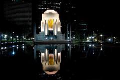 reflections of war memories (Heaven27) Tags: longexposure reflection water night sydney australia hydepark warmemorial