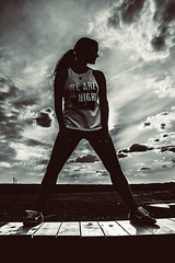 untitled-1024.jpg (Noth1ng 2 Off3r) Tags: woman white monochrome silhouette female clouds standing back drama epic