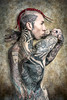 Tattoo Supermodel (Chris Lavish) Tags: chrislavish doubleprofile studio2016 tattoos inked lavish tattoo art haircolor ink headtat lavishnyc backtattoo handtats