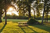 Come sit a spell (Jake (Studio 9265)) Tags: medora jackson county indiana usa united states america rural nikon d5000 2016 fall picnic table wooden grass park field trees sun dusk green