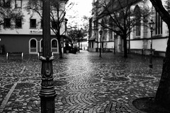 A gray day (Leica M6) (stefankamert) Tags: stefankamert sreet gray day city spuare balingen blur blurry grain film analog leica m6 leicam6 rangefinder voigtländer nokton 35mm kodak trix blackandwhite blackwhite mood monochrome noir noiretblanc schwarzweis rain