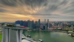 Highly Ambitious (Mabmy) Tags: singapore cityscape buildings mbs marinabaysands skypark cbd financialdistrict casino esplanade cityhall bayfront circleline architecture sunset evening manualblending mavic mavicpro mabmy