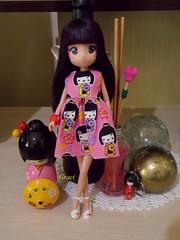 Midori X Kokeshis = ♥ (Graciani Crafts) Tags: fotos midori anime mangás kokeshi kawaii boneca bonecas doll dolls