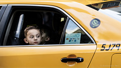 New York (ale neri) Tags: portrait taxi street people child aleneri nyc ny newyork yellow manhattan streetphotography alessandroneri