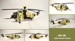 HH-3E Jolly Green Giant (2)- multi view ([Maks]) Tags: lego moc sikorsky helicopter rotor vietnam war military minifig scale hh3e hh3 h3 sh3 sea king s61 s61r combar search rescue jolly green giant
