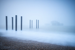 The Hidden Pier (Stu Meech) Tags: bigstopper brighton eastsussex leefilters outdoor scenic unitedkingdom westpier d750 exposure fog landscape long meech mist nikon sea stu