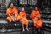 Monks (Gor .) Tags: cambodia monk monks buddhism buddha temlpe ancient runis orange saint ancientcity