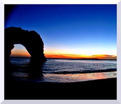 DurdleDoor (Eddy-Welbz) Tags: nikon bournemouth d5000 dark durdle door durdledoor blue sunset sea southern coast