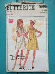 Butterick 5099 (kittee) Tags: kittee vintagesewing vintagepatterns butterick 5099 butterick5099 size14 bust36 toobig wouldsell wouldtrade peterpancollar patchpockets princessseams interestingdartdetails aline stepindress rolledcollar frontclosing butterickboutique nodate 1960s 1970s sewing sewingpattern vintage pattern