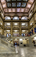 City Hall Central Lobby (Jae at Wits End) Tags: stairs staircase architecture arch building interior flight steps treads structure