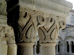Cloister, Abbaye Notre-Dame de Sénanque (shadow_in_the_water) Tags: abbayedesénanque abbayenotredamedesénanque cistercianabbey arch romanesque cloître cloister capitals provence france