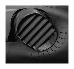A Degree of Power. (Martyn.A.Smith LRPS) Tags: monochrome metalwork lines rivets aircraft airduct harrierjumpjet stilllife indoors nozzle mechanical fujifilm xti rafcosford museum shropshire