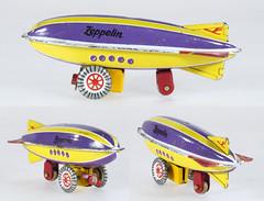 ZZ Zeppelin (adrianz toyz) Tags: tinplate pennytoy zz zimmermann zirndorf hongkong zeppelin airship