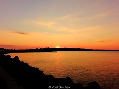 marine sunset (Vasil Gochev) Tags: sunset beautiful sea black water color landscape buildings glow sky clouds view photographic stroll photo sun camera picture photographer tourist tour culture tourism art city nessebar blacksea