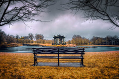 Pagoda on a Frigid Morning (Jon Dickson Photography) Tags: infrared forestpark stl st louis water landmarks