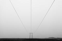 Between The Lines (Tim Drivas) Tags: blackandwhite monochrome bw powerlines leadinglines iceland landscape minimalism minimal