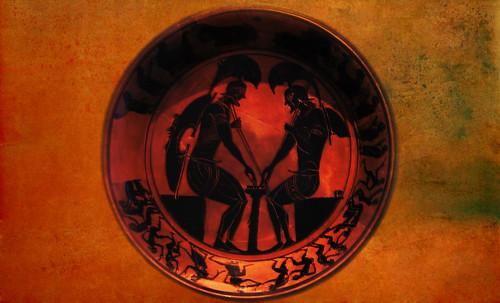 "Petteia - Ludus Latrunculorum  / Iconografía de las civilizaciones helenolatinas • <a style=""font-size:0.8em;"" href=""http://www.flickr.com/photos/30735181@N00/32522206285/"" target=""_blank"">View on Flickr</a>"