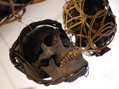Head Hunted (rob.dunfey) Tags: gruesome teeth cage sarawak borneo iban hunting head skull