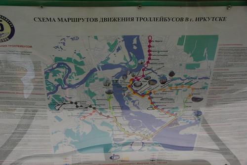 Irkutsk trolleybus map and rules ©  trolleway