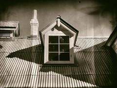 Window without Bars (Feldore) Tags: alcatraz window old building vintage sepia prison retro california feldore mchugh em1 olympus 1240mm roof wet plate faux