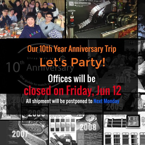 Due to 10th Anniversary trip, our office will be closed on