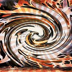 Ka-Pow! ;o) (Elisafox22 catching up again ;o)) Tags: vortex texture lines photomanipulation photoshop design movement colours bright patterns curves textures swirl challenge impressionistic photomanipulated postprocessing cameraraw ipad kreativepeople elisafox22 elisaliddell©2015 treatthis83