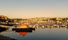 Brixham, Devon at Sunrise. (Drive-By Photography) Tags: brixham beach harbour marina yachts boats sunrise scenic rnli lifeboat