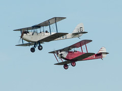 DH60X Moth & Southern Martlet (davepickettphotographer) Tags: park uk june museum aircraft aviation moth bedfordshire olympus collection airshow southern dh trust gb rare biplane laa dehavilland biggleswade em1 oldwarden martlet olympuscamera dh60x theshuttleworthcollectionuk