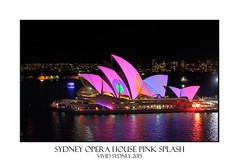 Sydney Opera House pink with splashes of colour (sugarbellaleah) Tags: city travel pink blue roof vacation urban orange colour building green tourism public water beautiful architecture modern night reflections evening amazing pretty pattern bright sydney australia landmark event entertainment nsw mauve leisure nightlife recreation publicity iconic sydneyharbour sydneyoperahouse vividsydney