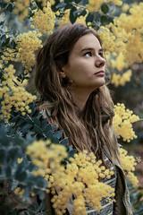wattle (ebony tippett) Tags: portrait flower nature girl yellow female youth native environmental wattle