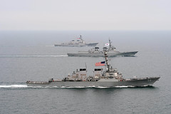 U.S. and Republic of Korea navy ships participate in Foal Eagle. (LockheedMartin19) Tags: ussjohnsmccain ussmccampbell koreanpeninsula foaleagle2013