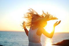 Malin Jensen (Linda Andersen Ness) Tags: sunset summer portrait people woman sun cute girl beautiful beauty yellow norway night pose hair golden model photoshoot magic happiness flare ksu magical kristiansund lense summernight