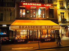 Brasserie Lipp, St Germain! Lipp is an integral part of French history. It's a legendary place that has attracted Parisiens and tourists alike. It is, in itself, the center of the story of 20th century Paris, when Saint-Germain des Prés was at the top of