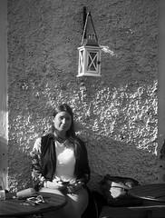 Stolen Portrait (Olderhvit) Tags: street portrait blackandwhite monochrome lumix photography sweden candid streetphotography streetphoto 2015 gatufoto gatufotografi framingthestreet olderhvit dmcgx1