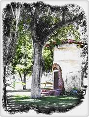 Silo (Sugardxn) Tags: arizona flower tree photoshop canon golf tucson painted az resort silo frame tubac picswithframes canoneos7d canon7d sugardxn garypentin