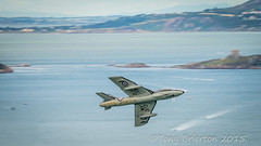 HAWKER HUNTER T.7 WV372 (Tony Brierton) Tags: beach airplane aircraft seafront bray hawkerhunter airdisplay 19715 brayairshow15