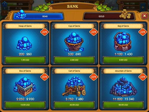 The Tribez & Castlez - Play with friends! Virtual currency Bank: screenshots, UI