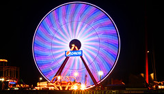 Giant Ferris Wheel at Ocean City, Maryland (On Explore 8/2/2015) (die Augen) Tags: ocean park city wheel pier colorful long exposure maryland ferris