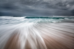Winter Chill (Mark McLeod 80) Tags: seascape beach waves australia victoria rye vic morningtonpeninsula 2015 markmcleod canonef1635mmf28lii lee075softgrad