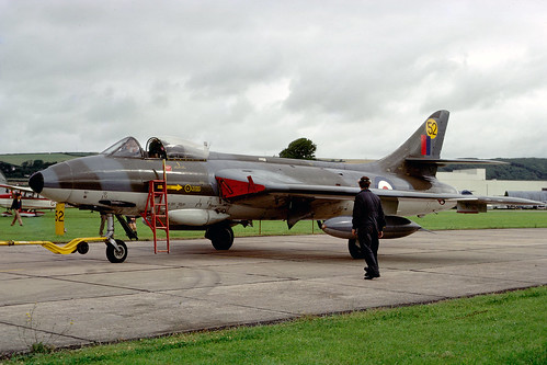 Hawker Hunter F6 XJ637/52 Chivenor 5-8-72