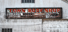 Tom's Body Shop (Clay Fraser) Tags: toms bodyshop tomsbodyshop mechanic towing rawlins wyoming fujifilmxpro1 xf1855mm pinconnected