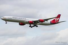 Virgin Atlantic Airways Airbus A340-642  |  G-VFIZ  |  London Heathrow  - EGLL (Melvin Debono) Tags: virgin atlantic airways airbus a340642 | gvfiz london heathrow egll melvin debono canon 7d 600d air airplane airport aircraft aviation spotting uk united kingdom england plane
