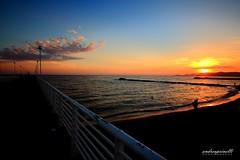 The way to the night (andreaprinelliphoto) Tags: andreaprinelliphoto andreaprinelli prinelli notte night sunset tramonto crepuscolo sun beach marinadimassa marina toscana estate agosto nuvole cloud