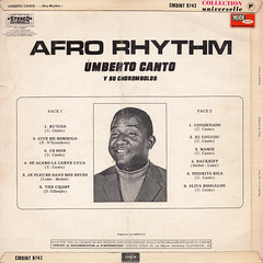 Umberto Canto y su Chorombolos - Afro Rhythm (back cover) (oopswhoops) Tags: vinyl album french latin boogaloo afrocuban vogue
