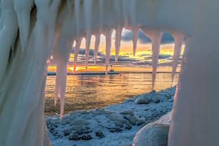 Breaking news!  Ice monster devours sunset!