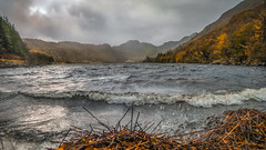 Heaven above !! (Einir Wyn) Tags: landscape lake water wales snowdonia storm weather hurricane rain gale mountains trees uk britain outdoor light colour clouds sunbeam nikon atmosphere dramatic grey