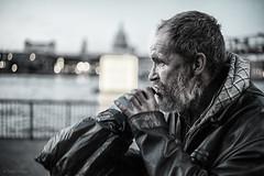 Jamie (Tedz Duran) Tags: street photography sp travel river thames london england people portrait portraiture bw blackandwhite monochrome urban life sony a7rii carl zeiss distagon 35mm 14 zm distagon1435