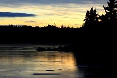 Dusk at the Lake (photo fiddler) Tags: lake longlake halifax sunset illustrator jenuary 2017